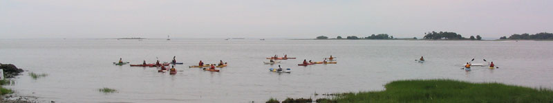 Kayak for a Cause class, Norwalk, CT