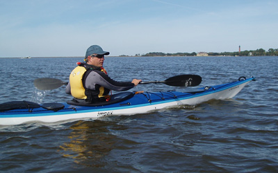 Gordon in his Impex Currituck on Currituck Bay, Outer Banks, NC
