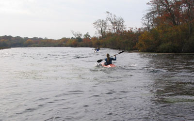 "Racers in ""KNAT"" ICF Trainer, Carmen's River, Brookhaven, NY - October 2003"